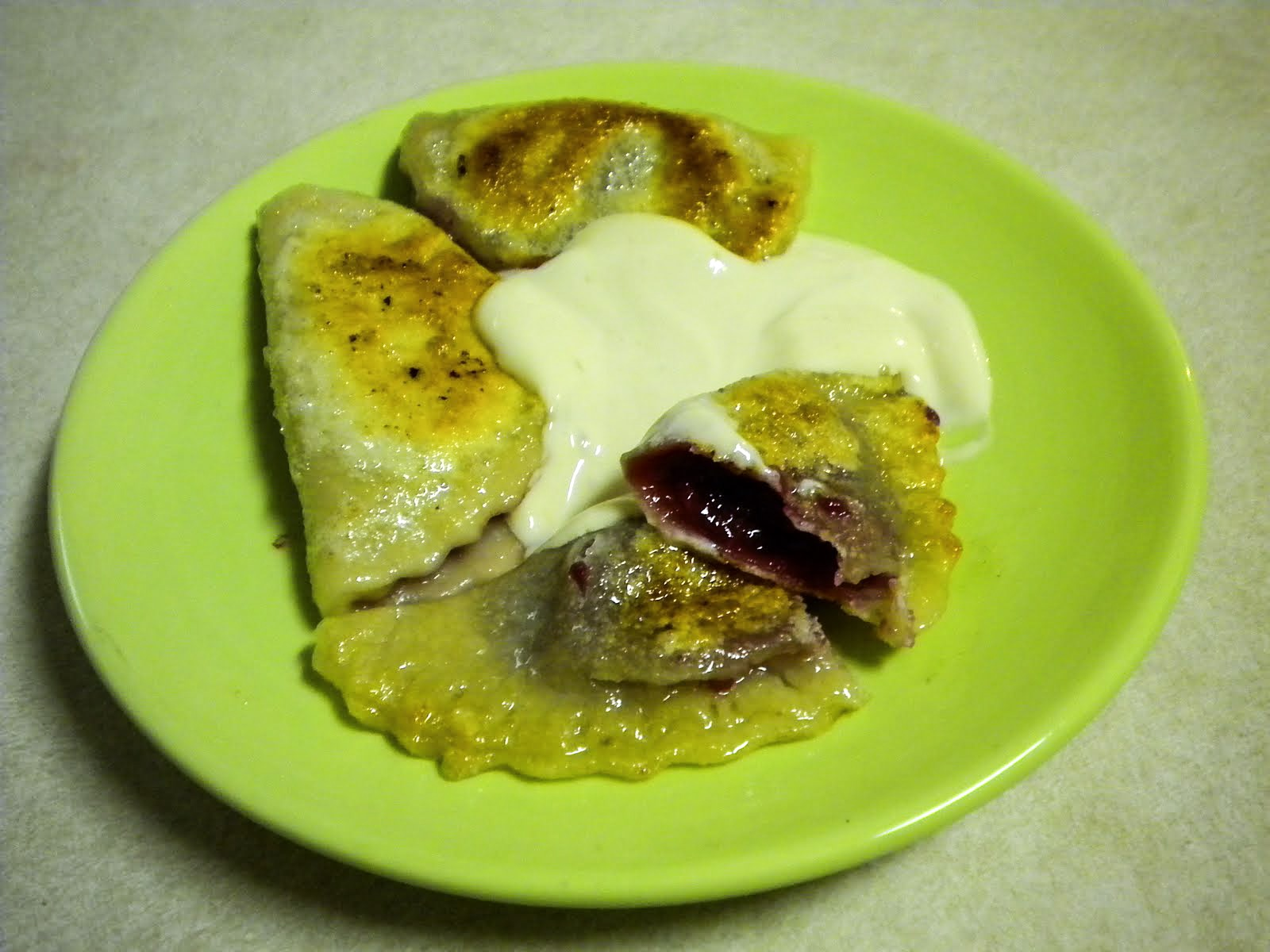 Mixed berry pierogi - delicious!!!