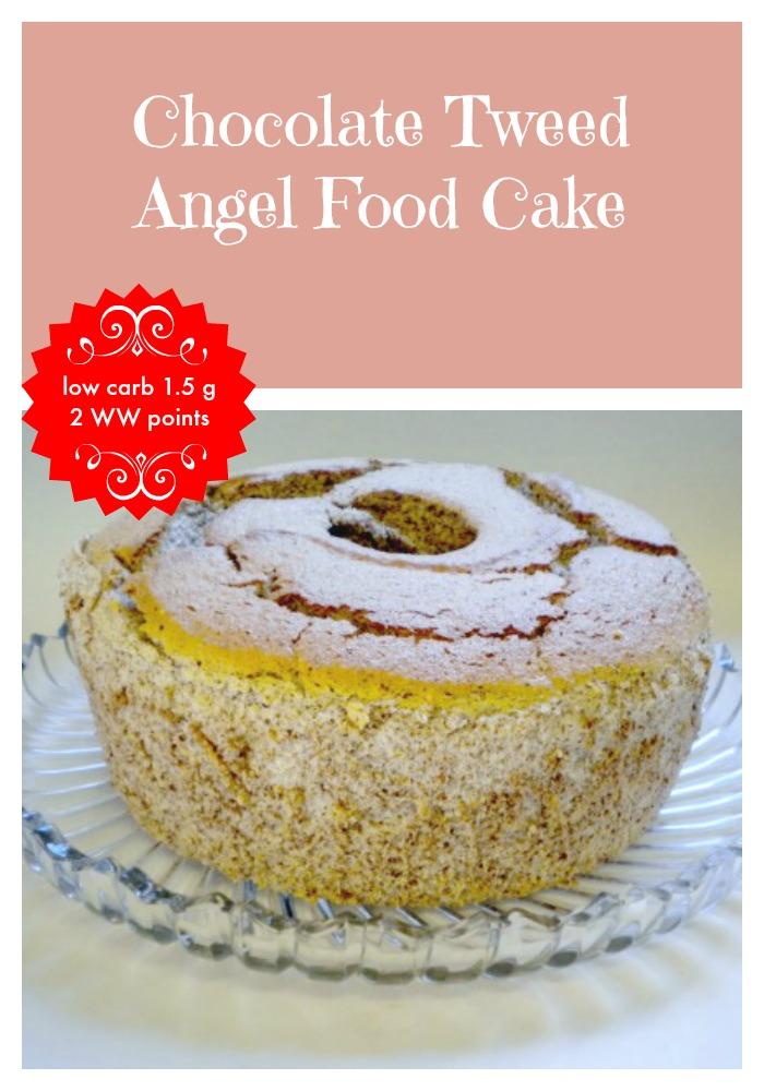 Chocolate Tweed Angel Food Cake 5