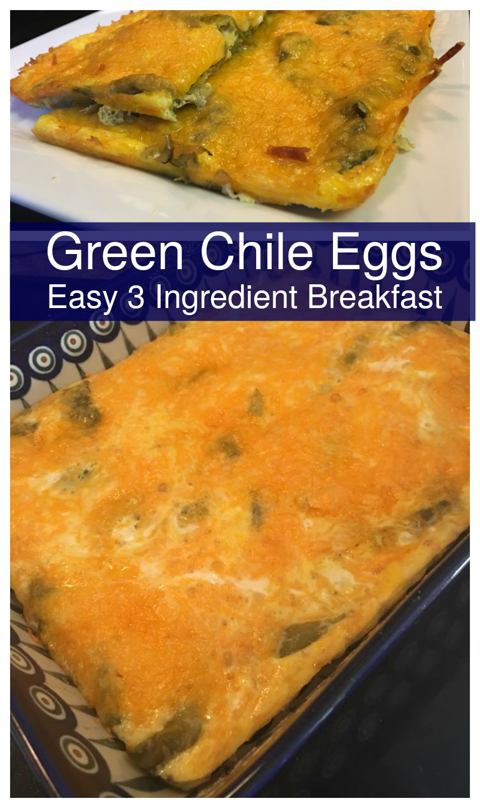 Green Chile Eggs, an easy breakfast!