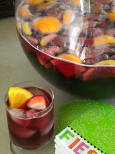 My sangria recipe, the best souvineer of our four years in Spain. Just the thing for your next party.