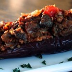 Eggplant Stuffed wtih Ground Lamb