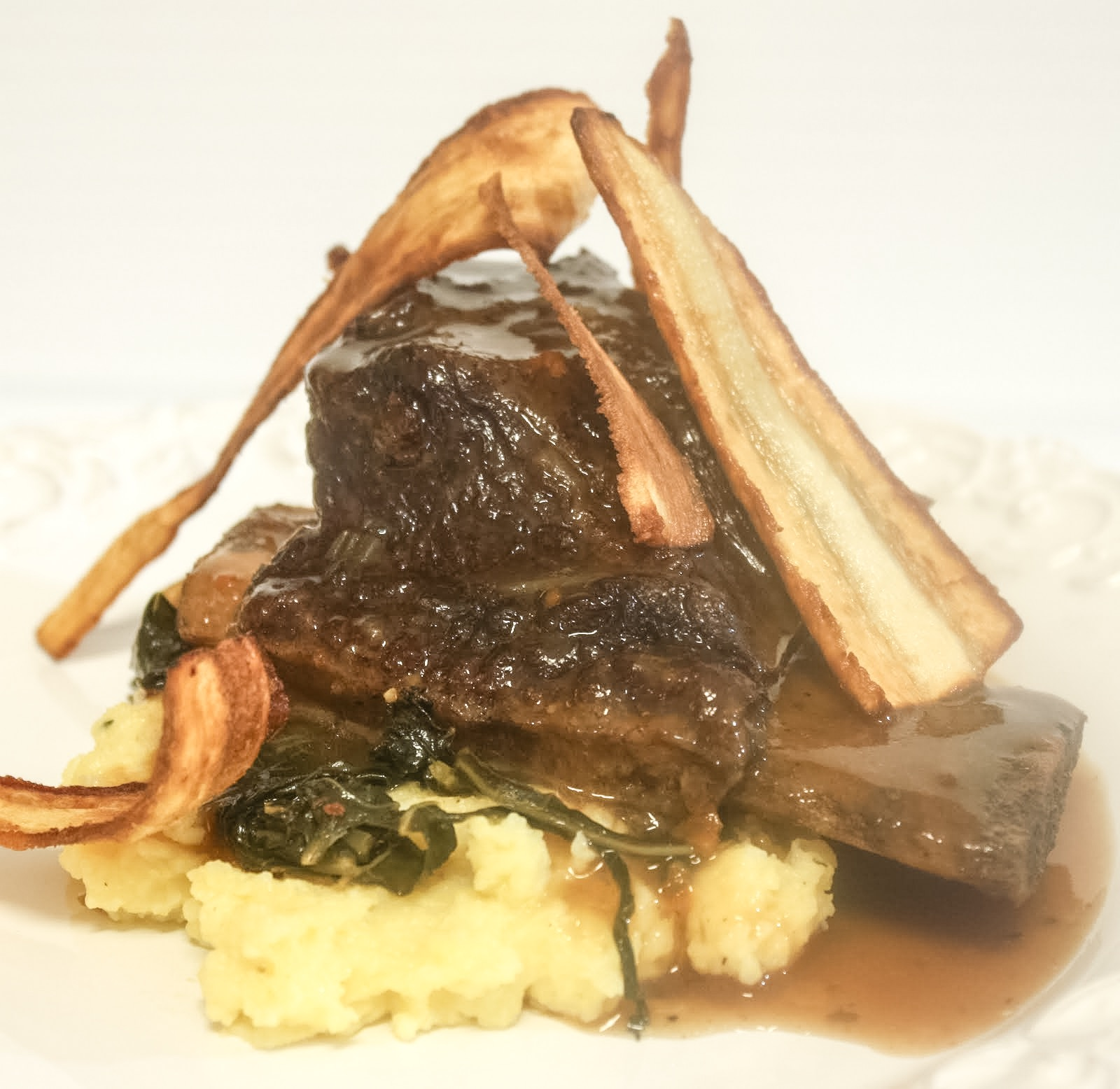 Black and Tan braised beef short ribs
