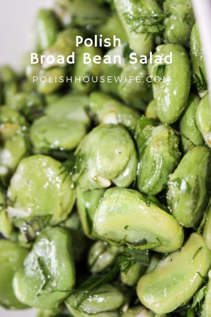 broad bean with an herbal dressing
