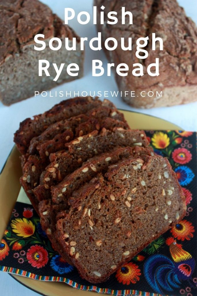 Polish sourdough rye bread with sunflower seeds