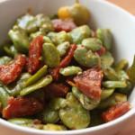 Habas (Fava Beans) con Chorizo