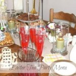 Easter Tea Party Menu