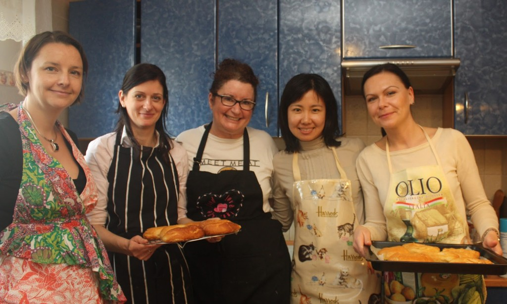 expat women, cooking class, international women, Poznan, bagels