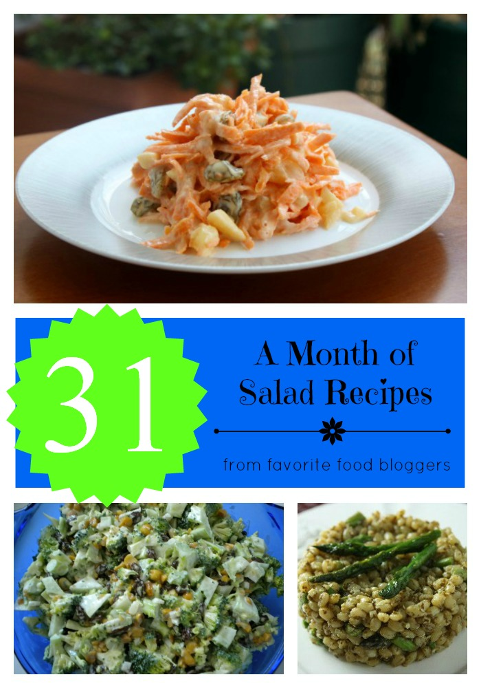 31 salad recipes collage