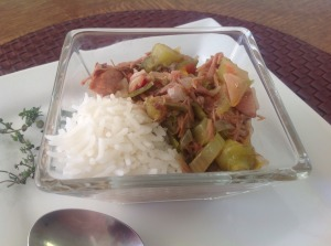 Duck sausage gumbo