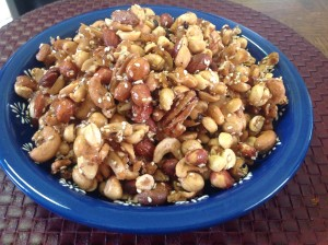 Gingered nuts - an addictive snack!