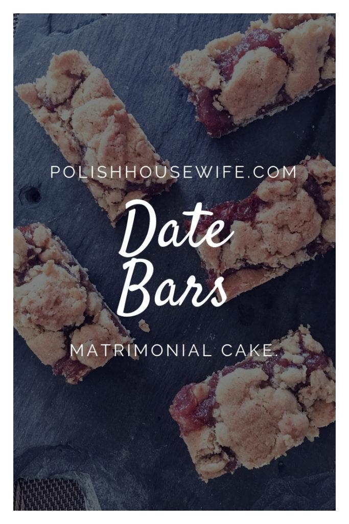date bars on a slab of slate