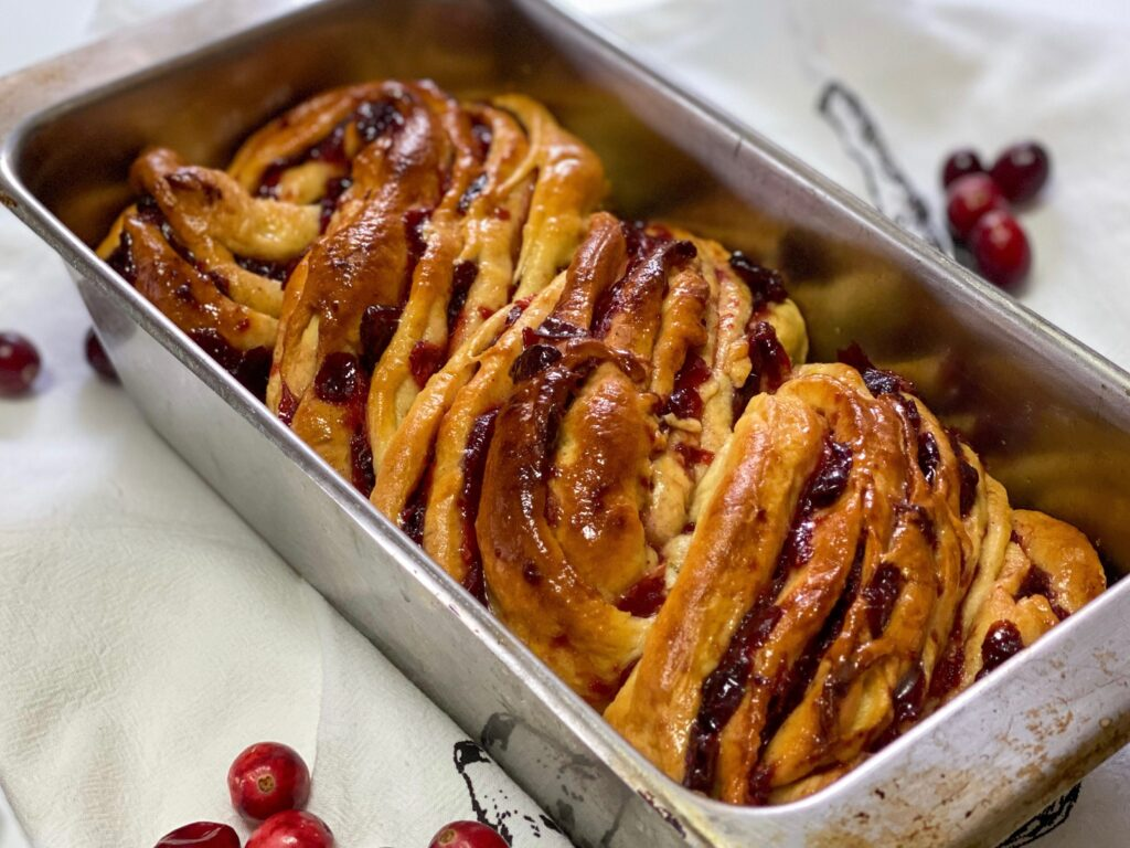 cranberry orange babka