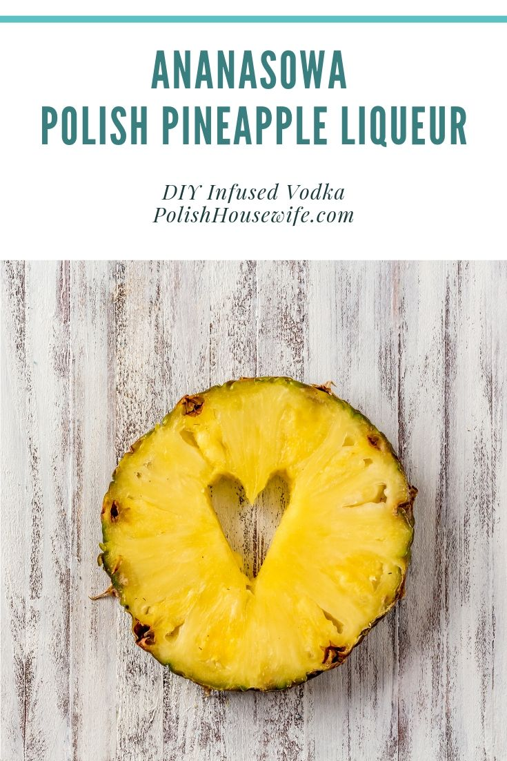 pineapple slice with a heart cut out of the core