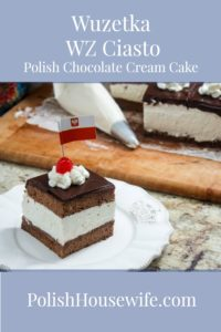 Wuzetka - WZ Ciasto - Polish Chocolate Cream Cake #polishrecipe #polishfood #polishhousewife #ciasto PolishHousewife.com