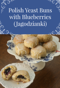 Polish Yeast Buns with Blueberries - Jagodzianki #polishfood #polishrecipes #bread #blueberries #polishhousewie PolishHousewife.com