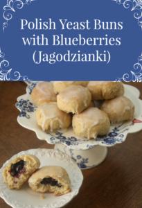 Polish Yeast Buns with Blueberries - Jagodzianki #polishfood #polishrecipes #bread #blueberries #polishhousewie PolishHousewife.com