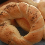 krakow bagel or pretzel with poppy seeds