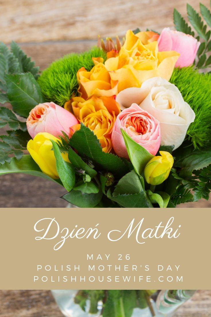 floral bouquet with dzien matki overlay