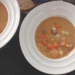 two bowls of Polish split pea soup