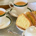 Babka poznańska and hot tea