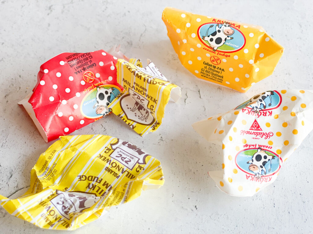 krówki polish fudge wrappers