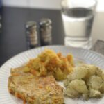 Polish pork and sauerkraut with boiled potatoes