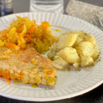 Polish pork with sauerkraut and boiled potatoes