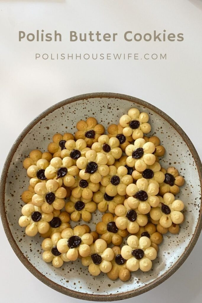 Polish butter cookies on a plate