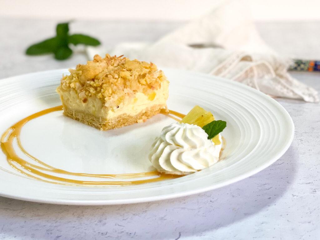 Polish pineapple cheesecake