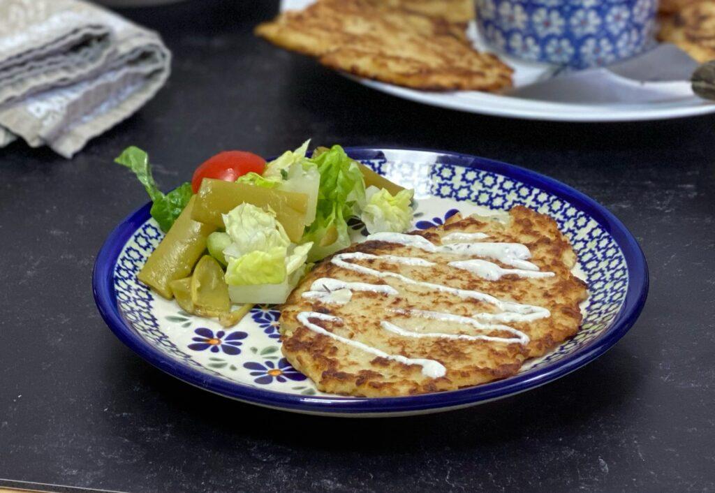 Polish sauerkraut pancakes