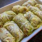 buckwheat and mushroom cabbage rolls